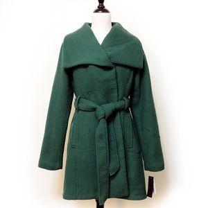 Steve Madden Kelly Green Hi-Low Coat